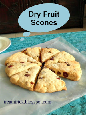 Dry Fruit Scones Recipe @ treatntrick.blogspot.com
