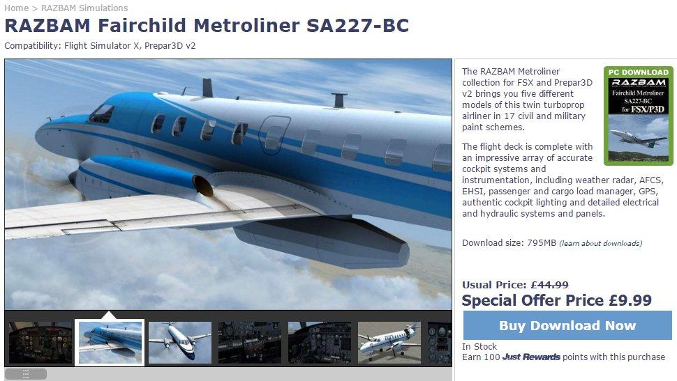 South West Flight Simulation: Fairchild Metro III: FSX & P3D