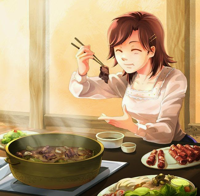 Anime Food Tumblr Illustration (daily)