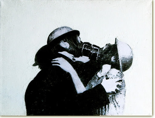 The kiss Gas masks by paintwalk