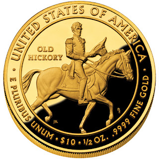 United States Gold Coins Andrew Jackson's Liberty First Spouse $10 Dollars Gold Coin