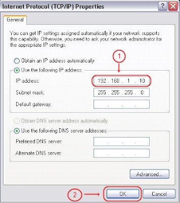Setting IP Address PC