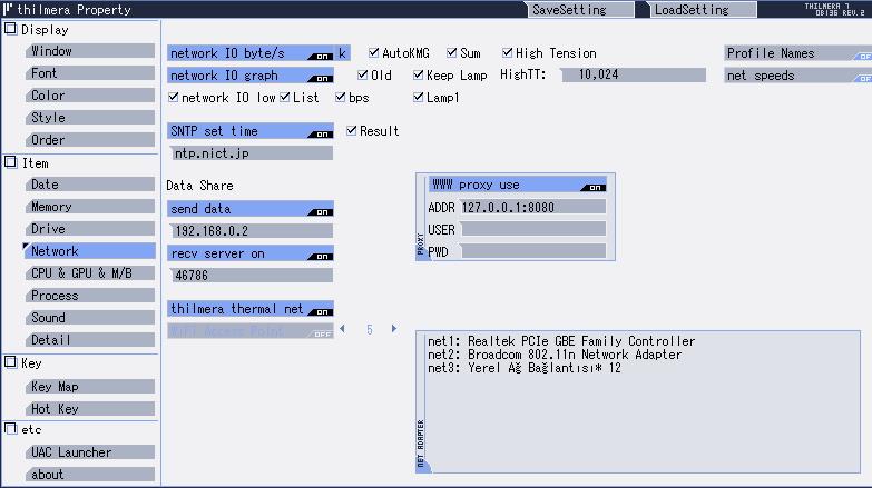 CPU, HDD, Ağ vb Gerçek Zamanlı İzleme Yazılımı Thilmera