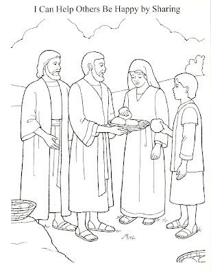 Jesus Feeds 5000 Preschool Coloring Sheet – Colorings.net