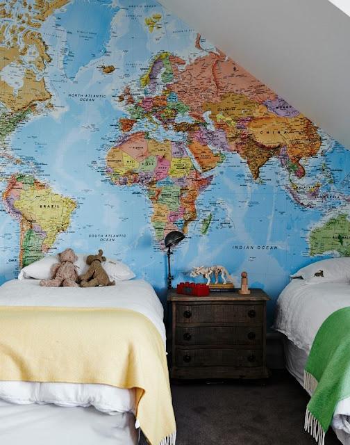 världskarta tapet barn fototapet barnrum