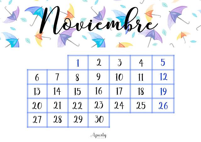 Aparty noviembre 2016 - Mes noviembre 2017 ...