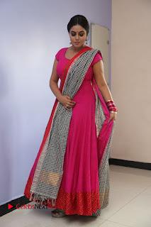 Actress Poorna Pictures in Red Salwar Kameez at Jayammu Nischayammu Raa Teaser Launch  0211