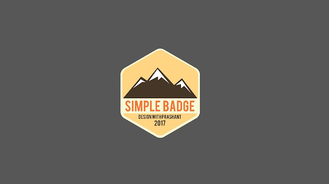 ADOBE ILLUSTRATOR BADGE | DESIGN WITH PRASHANT