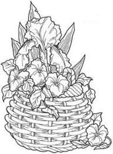 risco para pintura em tecido pano de prato cesta