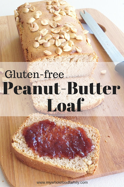 Gluten free peanut butter loaf cake - from www.mywholefoodfamily.com