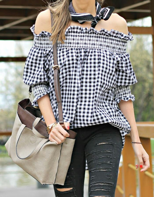Sweet puffy sleeve tunic