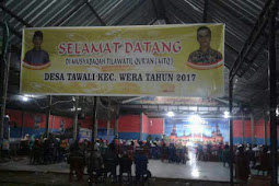 Jenateke bima membuka acara MTQ tingkat desa tawali  kecamatan wera