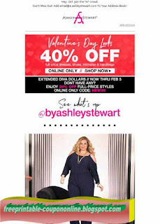 Free Printable Ashley Stewart Coupons