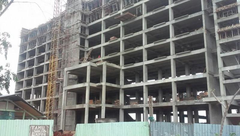 Proses pembangunan Rusunawa Semper Barat