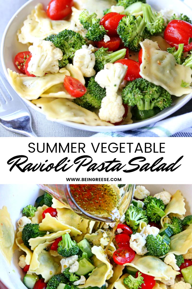 Summer Ravioli Pasta Salad