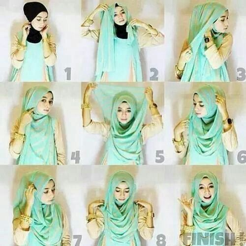 Exceptionnel Comment mettre foulard hijab moderne - Hijab Fashion and Chic Style NB74