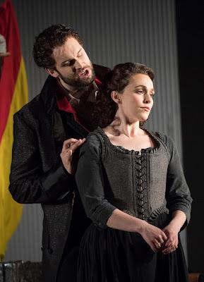 Mozart: The Marriage of Figaro - Ashley Riches, Rhian Lois - English National Opera (photo Alastair Muir)
