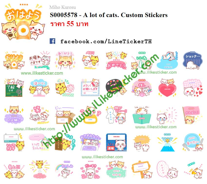 A lot of cats. Custom Stickers