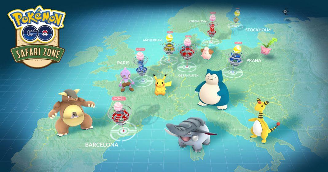 Llega la zona safari a Pokémon GO,¡captura criaturas que no son de tu continente!