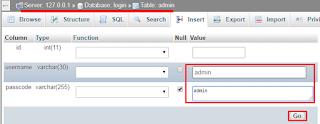 insert data phpmyadmin