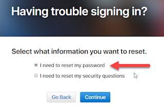 I Need To Reset My Apple ID Password