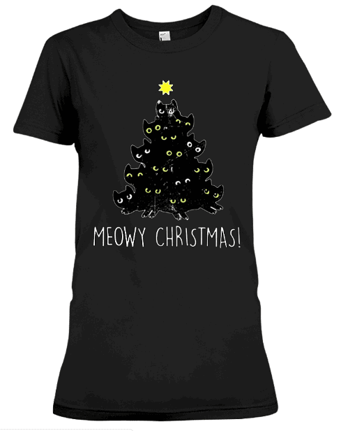 MEOWY CHRISTMAS T Shirts Hoodie Sweatshirt