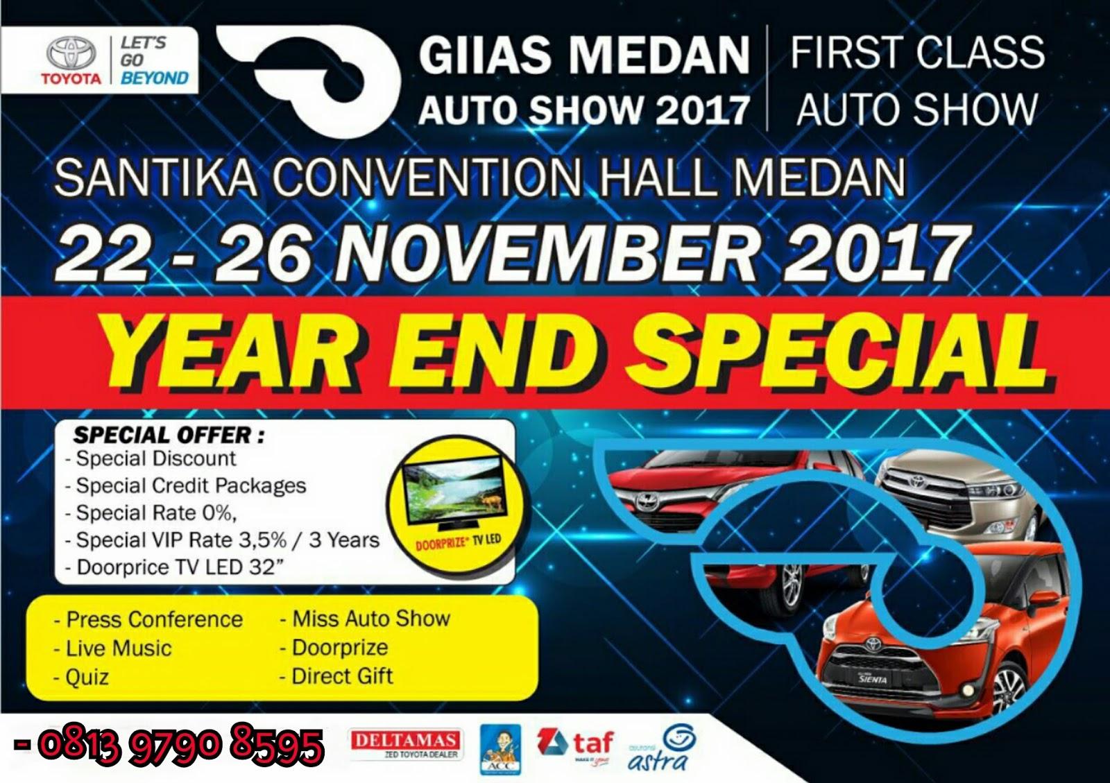 Toyota Deltamas Medan Booking Fee New Agya Trd A T Giias 2018 Rabu 22 November 2017