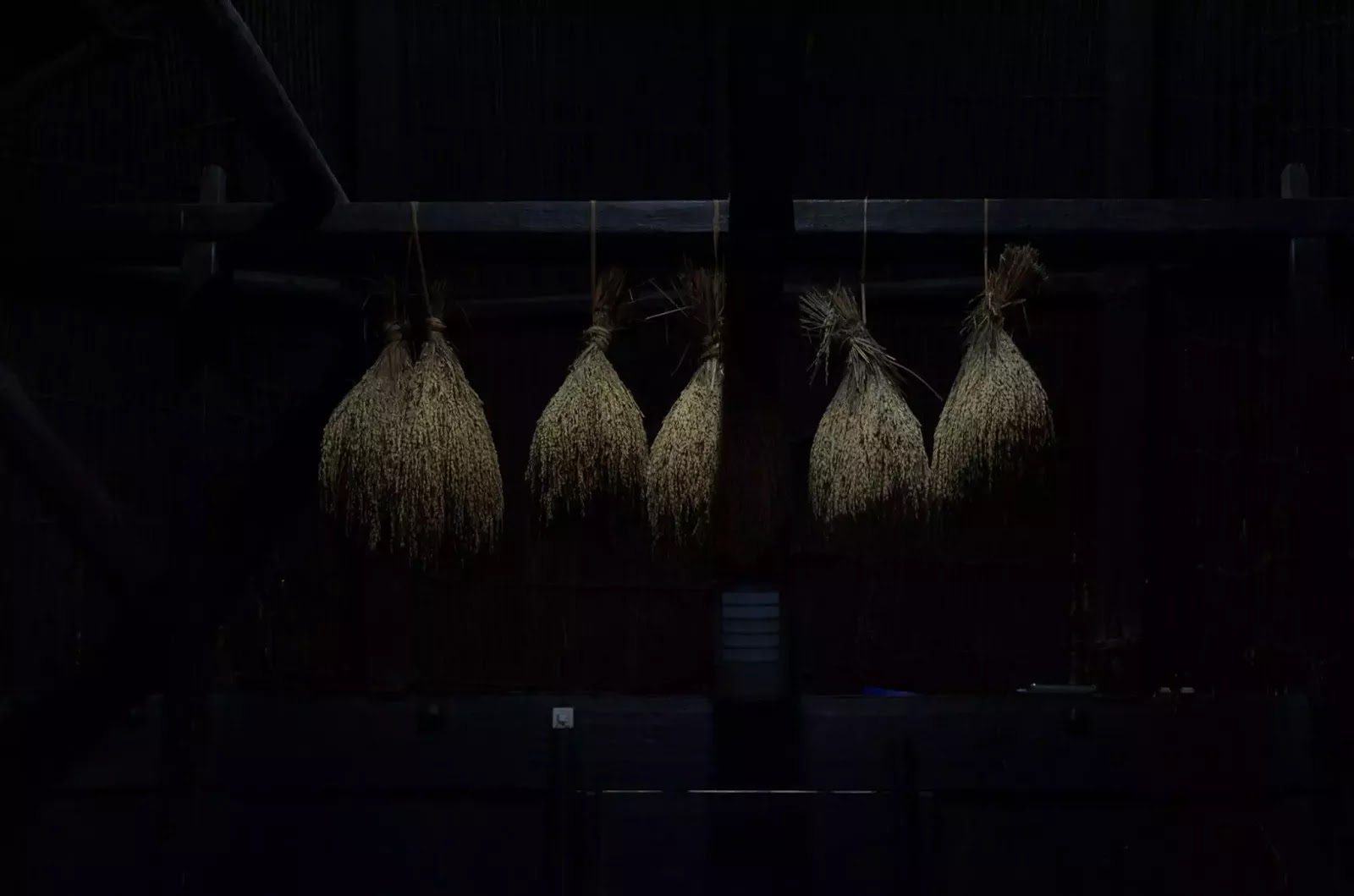 International Arts Festival 8th Tam-awan Baguio City Philippines Rice Stalks Inside Ifugao Hut