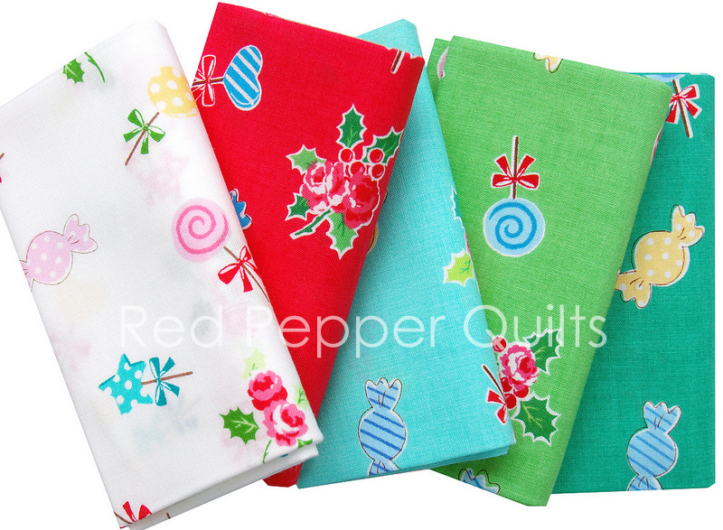 Flower Sugar Holiday 2016 for Lecien - Candy Toss | Red Pepper Quilts Sunday Stash #334
