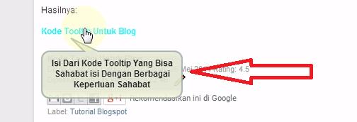 Cara Mudah Memasang Tooltip di Blog