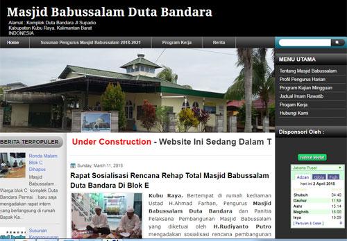 Website Resmi Masjid Babussalam Duta Bandara Kubu Raya Kalimantan Barat