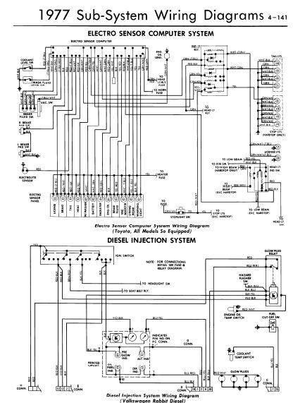 repairmanuals: 1977 Electro Sensor Computer System Wiring Diagrams