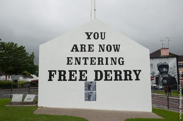 Bogside Free Derry mural Irlanda del Norte