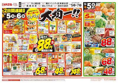 【PR】フードスクエア/越谷ツインシティ店のチラシ9月5日号