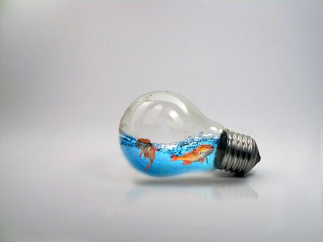 دروس فوتوشوب | إنشاء مصباح وبداخله اسماك وماء ببساطة