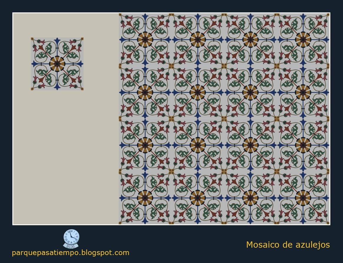 Parque del pasatiempo a 20 rinc n de descanso azulejos for Muestrario de azulejos
