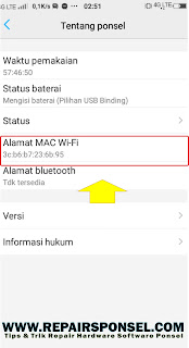 Cara Mengetahui Mac Address WI-FI Vivo Smartphone