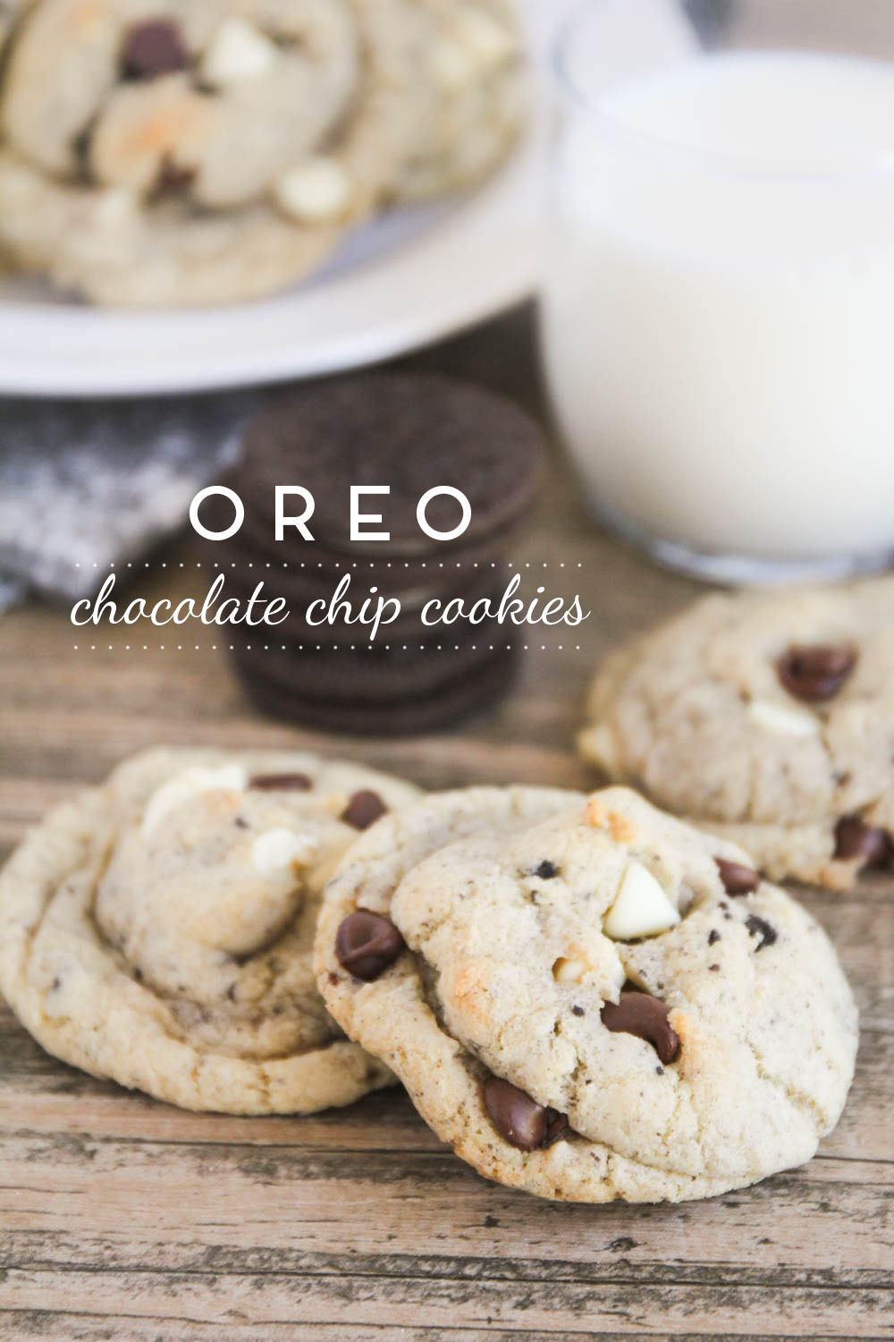 These Oreo chocolate chip cookies are super delicious and easy to make!
