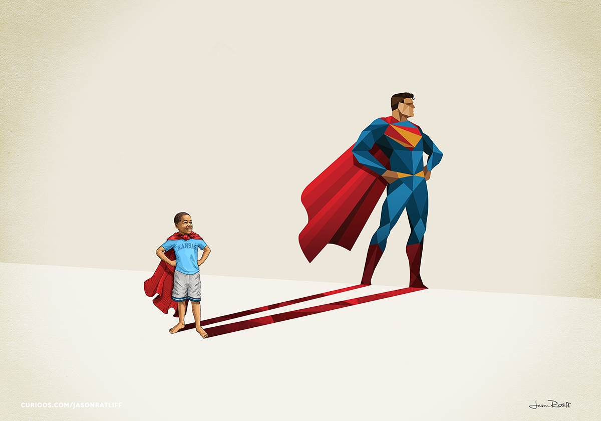 12-Superman-Jason-Ratliff-Comic-Book-Heroes-in-Super-Shadows-II-Illustrations-www-designstack-co