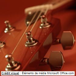 tête d'une guitare (photo)