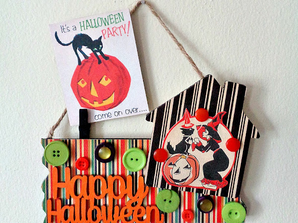 Buttons Galore & More: Decorate with a DIY Happy Halloween Photo Holder