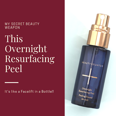 This overnight resurfacing peel is a new beauty item that keeps skin glowing. Perfect for mature skin.