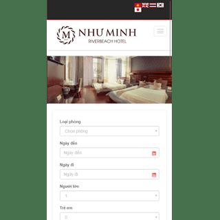 template blog khách sạn