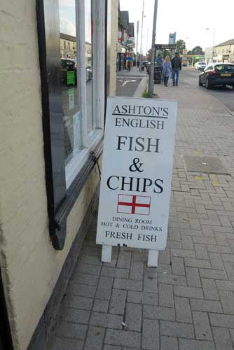 Ashton's Fish & Chip Shop Stockport.
