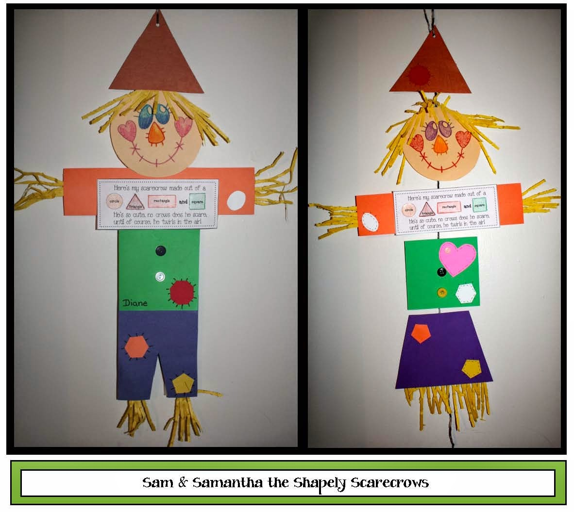 Classroom Freebies Sam And Samantha Scarecrow Shape