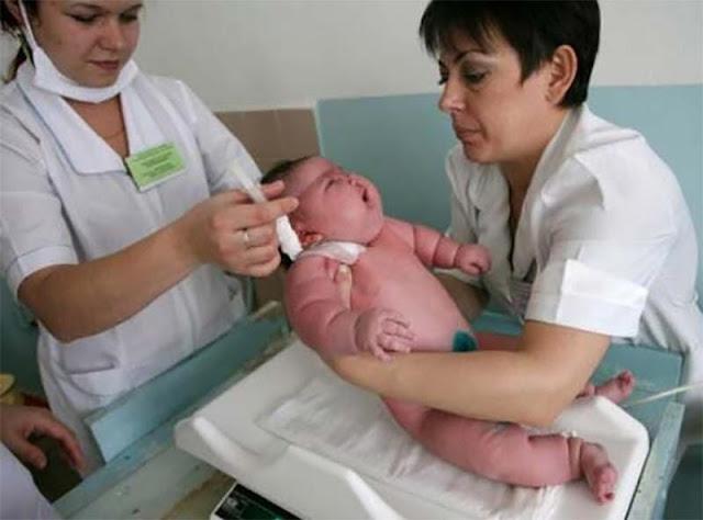 Resultado de imagen para Nace el bebé más grande del mundo pesa18 kg.