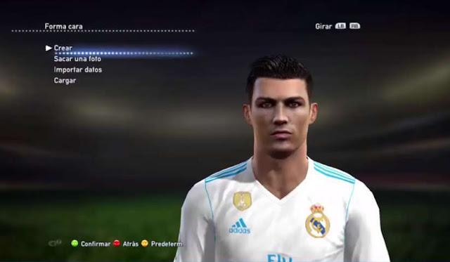 New Face Hair Cristiano Ronaldo PES - Download hair cristiano ronaldo pes 2013