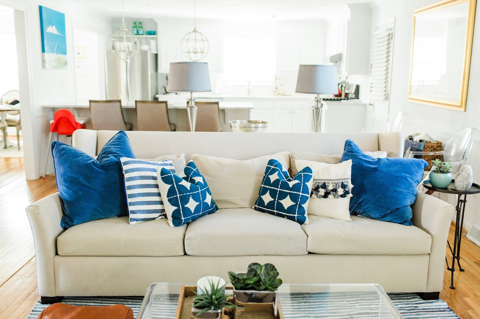 Boho Coastal Living Room Reveal