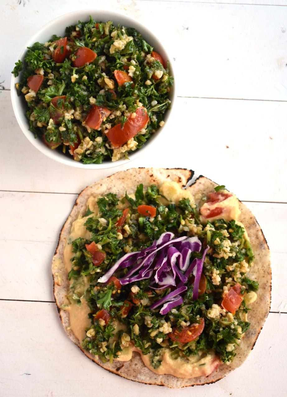 Tabbouleh Salad Wrap