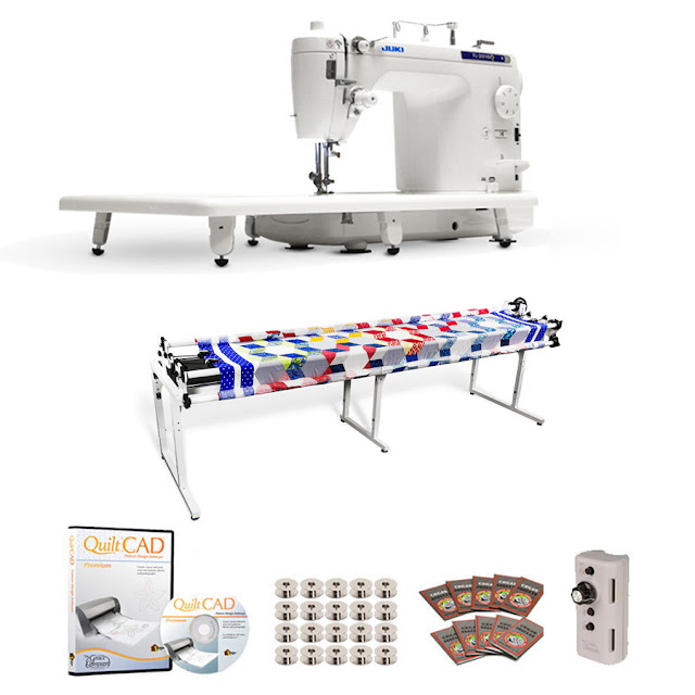 Juki TL-2010Q Long Arm, Grace Continuum Quilting Frame, SpeedControl & QuiltCAD
